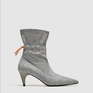 Zara fabric ankle boots